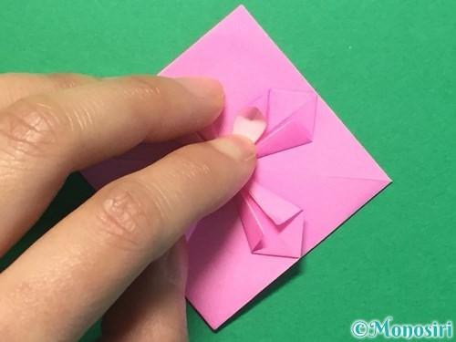 折り紙でハートのメダルの折り方手順26