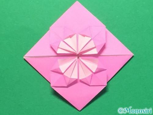 折り紙でハートのメダルの折り方手順28