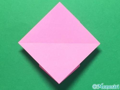 折り紙でハートのメダルの折り方手順29