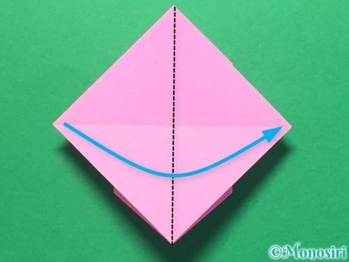 折り紙でハートのメダルの折り方手順30