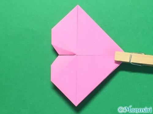折り紙でハートのメダルの折り方手順31