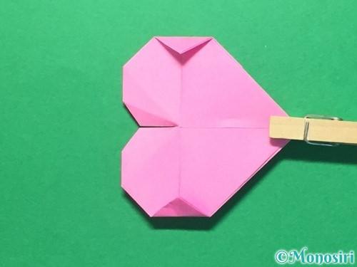 折り紙でハートのメダルの折り方手順33
