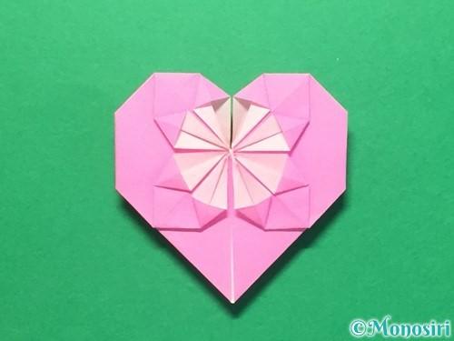折り紙でハートのメダルの折り方手順34