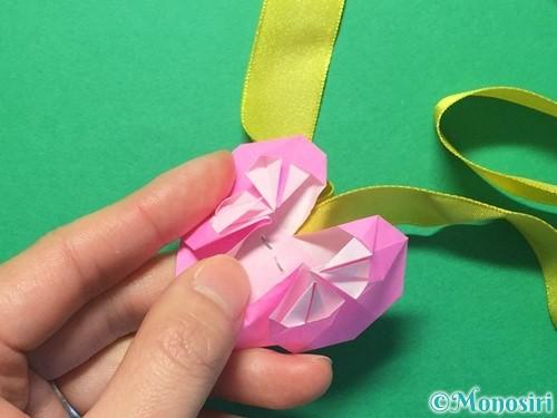 折り紙でハートのメダルの折り方手順36
