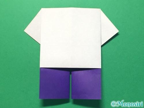 折り紙で体操着の折り方手順18