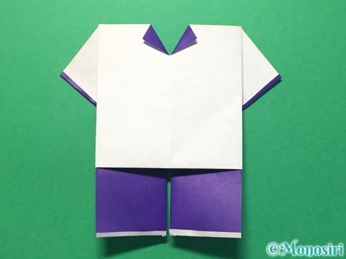 折り紙で体操着の折り方手順23