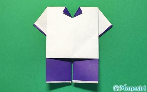 折り紙で折った体操着