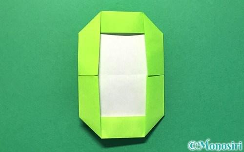 折り紙で折った数字の0