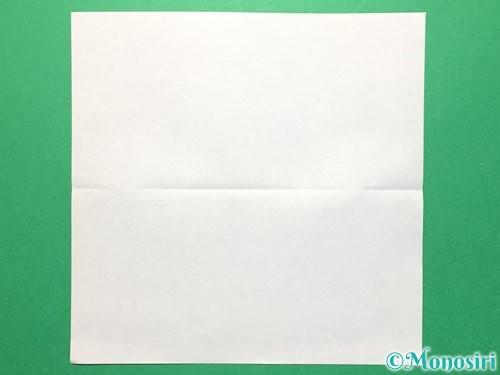 折り紙で数字の4の折り方手順2
