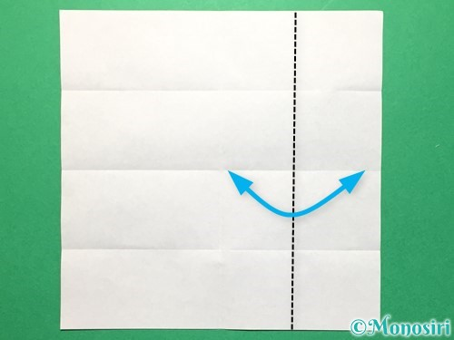折り紙で数字の4の折り方手順7