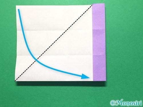 折り紙で数字の4の折り方手順13