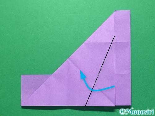 折り紙で数字の4の折り方手順17