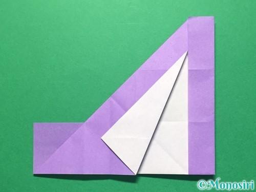 折り紙で数字の4の折り方手順18