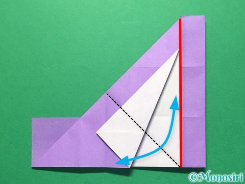折り紙で数字の4の折り方手順19