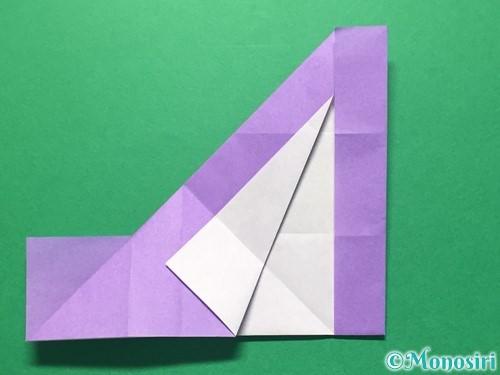 折り紙で数字の4の折り方手順20