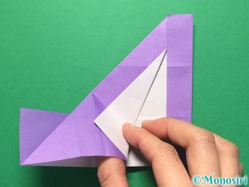 折り紙で数字の4の折り方手順21