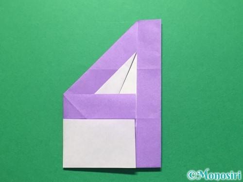 折り紙で数字の4の折り方手順25