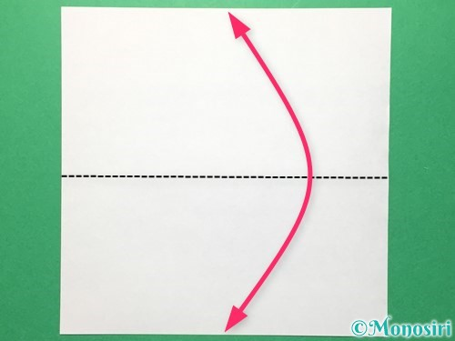 折り紙で数字の5の折り方手順1