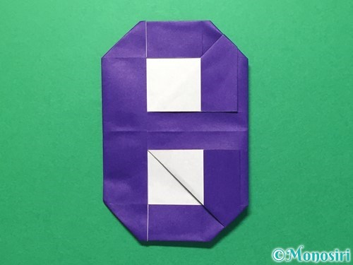 折り紙で数字の8の折り方手順28