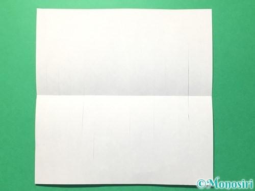 折り紙で提灯飾りの作り方手順6