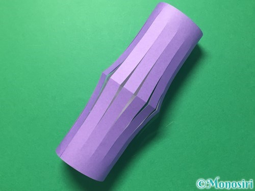 折り紙で提灯飾りの作り方手順8