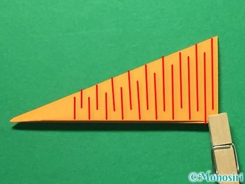 折り紙で屑籠の作り方手順11