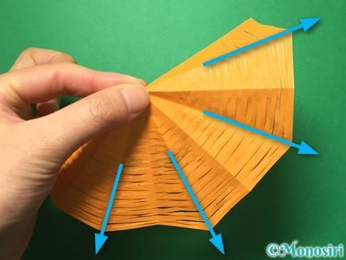 折り紙で屑籠の作り方手順14