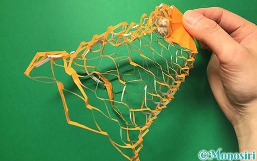 折り紙で作った投網