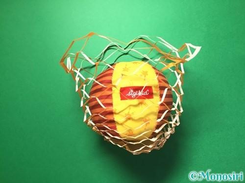 折り紙で屑籠の作り方手順16