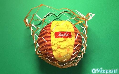 折り紙で作った屑籠