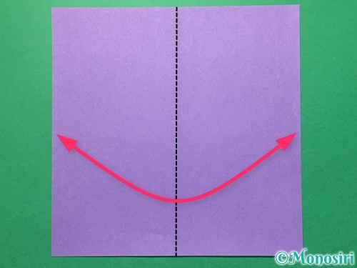 折り紙で浴衣(着物)の作り方手順1