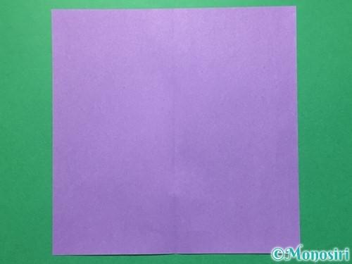 折り紙で浴衣(着物)の作り方手順2