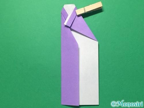 折り紙で浴衣(着物)の作り方手順16