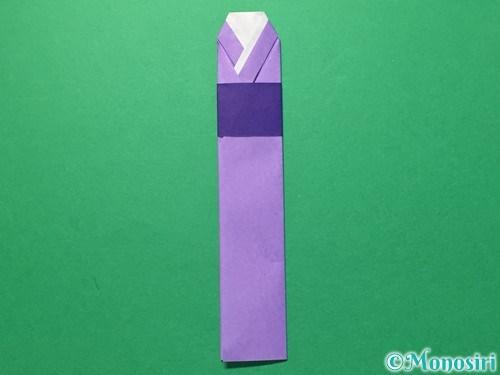 折り紙で浴衣(着物)の作り方手順22