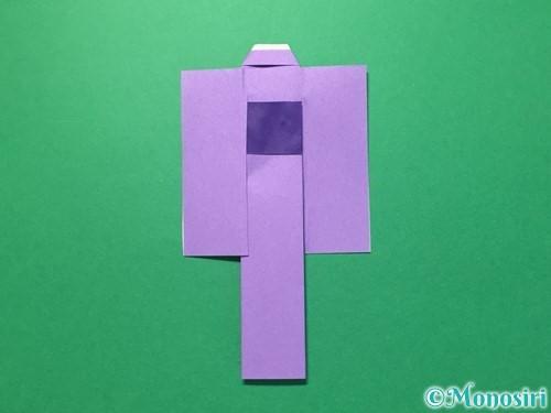 折り紙で浴衣(着物)の作り方手順32