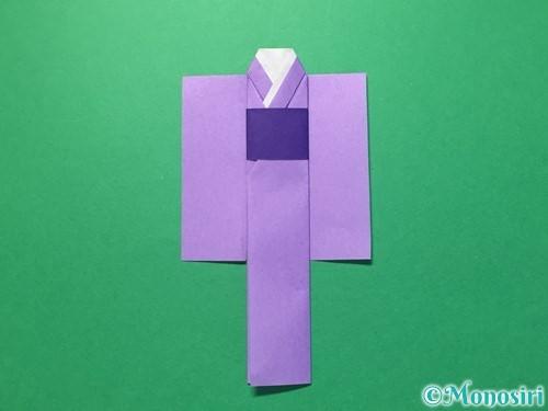 折り紙で浴衣(着物)の作り方手順33
