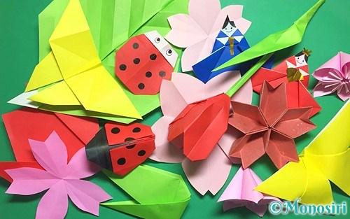 春の折り紙飾り
