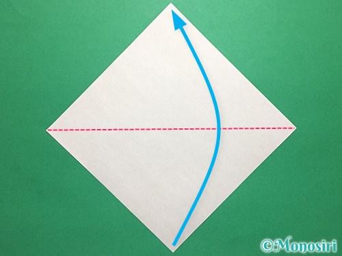 折り紙で青虫の折り方手順1
