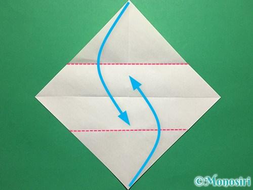 折り紙で青虫の折り方手順8