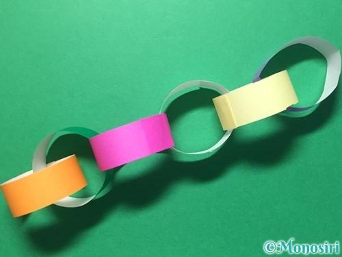 折り紙で輪飾りの作り方手順17