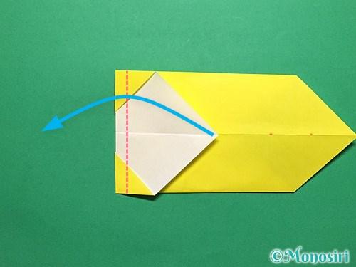 折り紙で青虫の折り方手順14