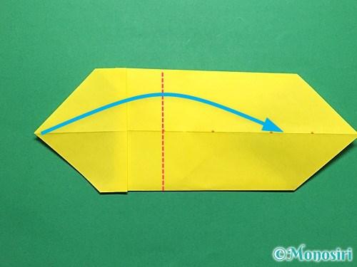 折り紙で青虫の折り方手順16