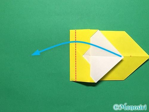 折り紙で青虫の折り方手順17