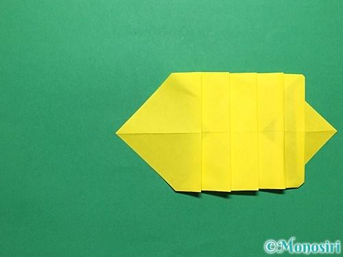 折り紙で青虫の折り方手順19