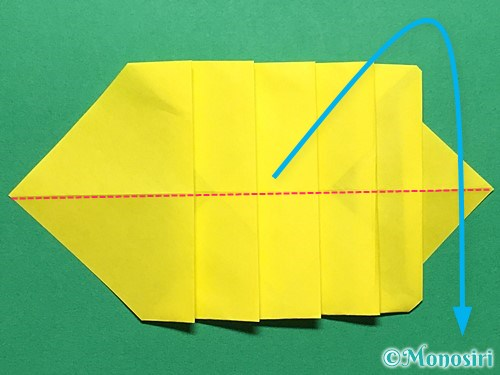 折り紙で青虫の折り方手順20