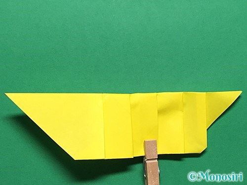 折り紙で青虫の折り方手順21