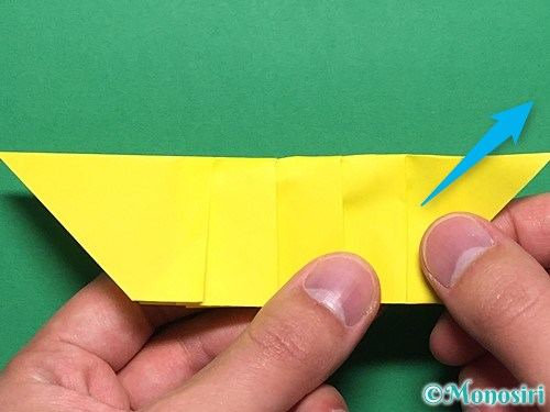 折り紙で青虫の折り方手順22