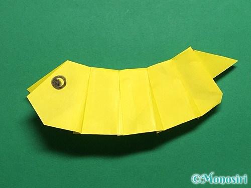 折り紙で青虫の折り方手順32