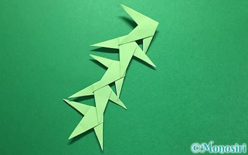 折り紙で作った笹の葉