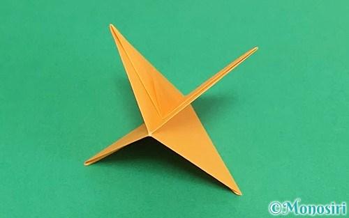折り紙で折ったふきごま